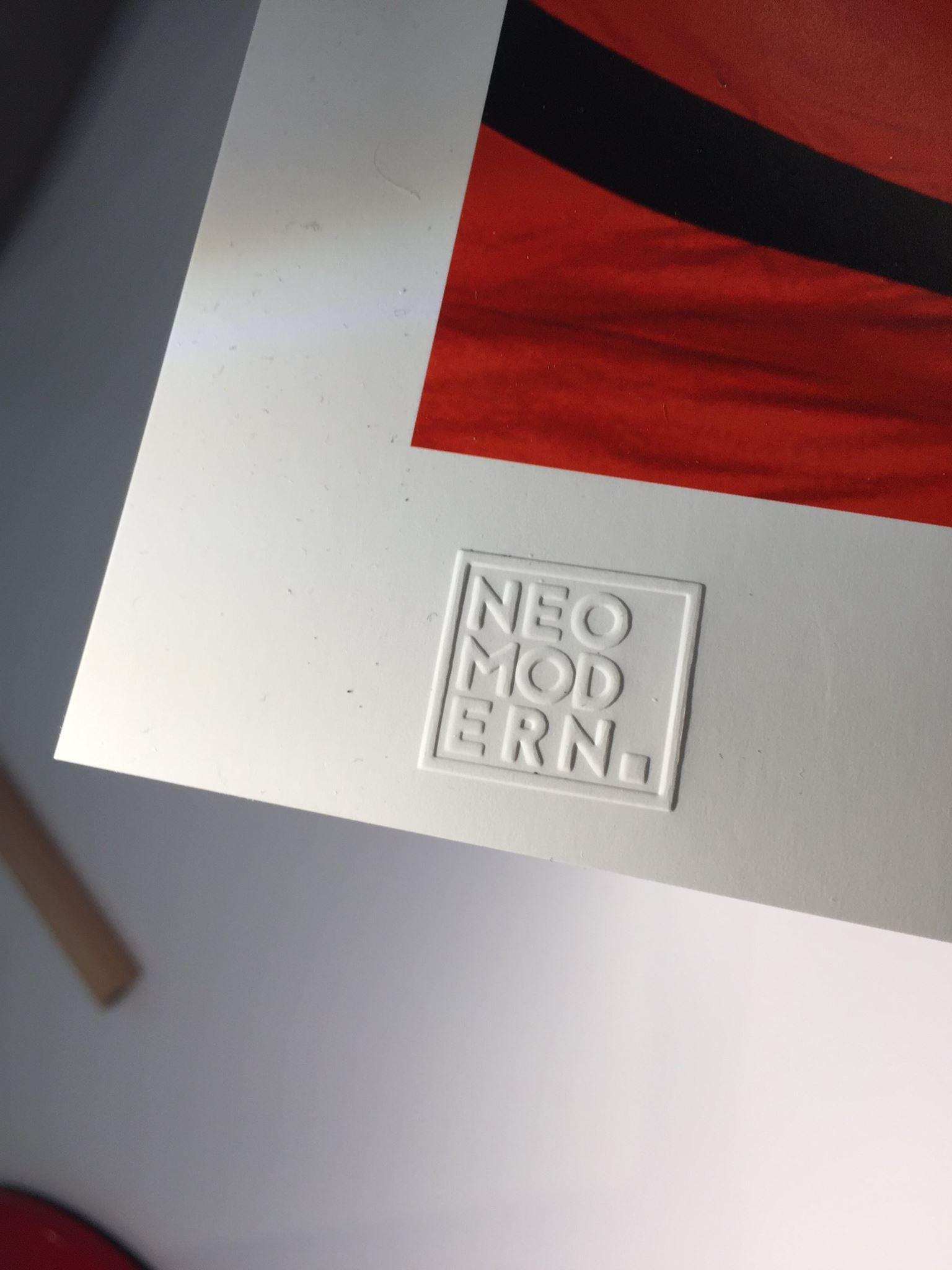 Neomodern embossed mat