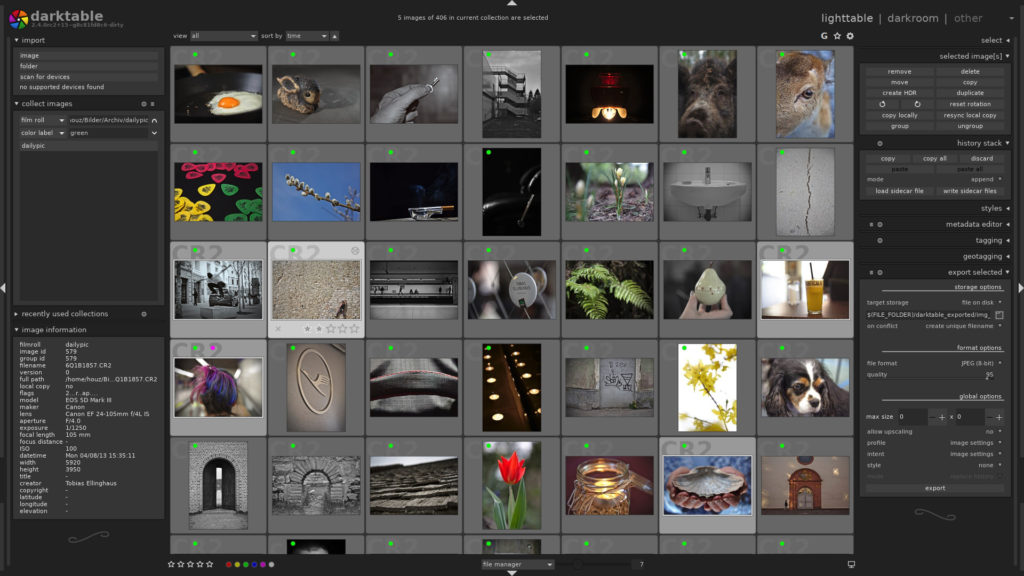 Darktable, the free photography workflow application, now available for Windows