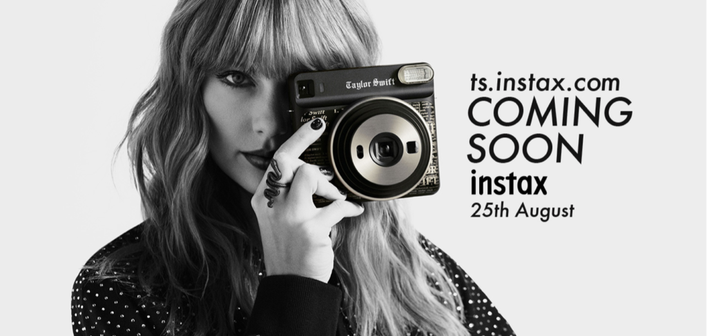 "Fujifilm launches ""instax SQUARE SQ6 Taylor Swift Edition"", designed by instax global partner Taylor Swift."